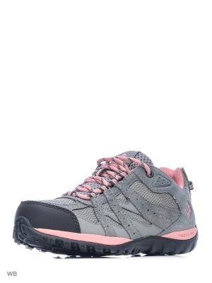 Ботинки Columbia. Цвет: серый, розовый