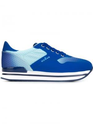 Кроссовки в стиле ретро Hogan. Цвет: синий