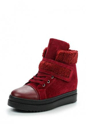 Кеды на танкетке Sweet Shoes. Цвет: бордовый