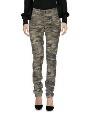 Повседневные брюки PENN-RICH WOOLRICH (PA). Цвет: зеленый-милитари