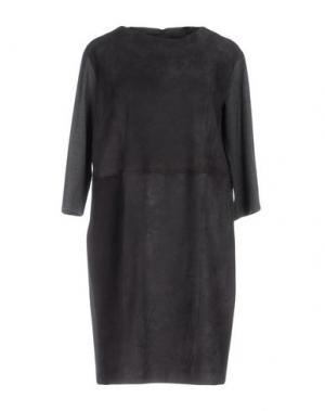 Короткое платье ANTONELLI. Цвет: свинцово-серый