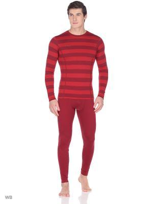 Термо-кальсоны Bergans. Цвет: бордовый, красный
