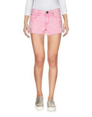Джинсовые шорты ATELIER FIXDESIGN. Цвет: розовый