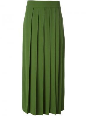 Плиссированная юбка  IM Isola Marras I'M. Цвет: зелёный