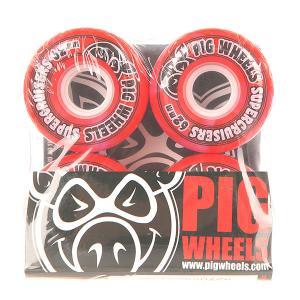 Колеса для скейтборда лонгборда  Supercruiser New Red 88A 62 mm Pig. Цвет: красный