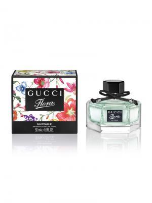 Flora By Gucci Eau Fraiche lady, Туалетная вода, 50 мл. Цвет: белый, зеленый, розовый