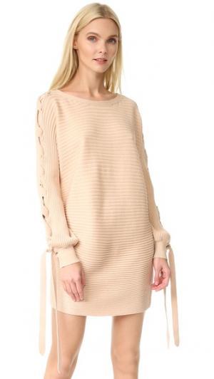 Платье-свитер Ribly Designers Remix. Цвет: пудровый