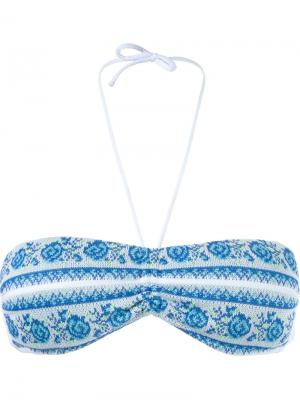 Knit bandeau bikini top Cecilia Prado. Цвет: белый