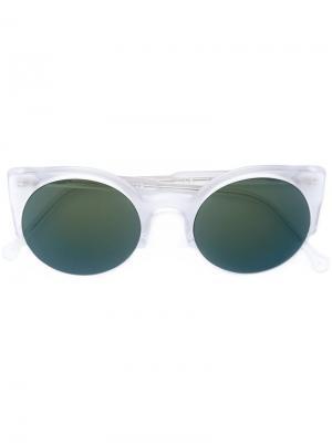 Солнцезащитные очки формы кошачий глаз Retrosuperfuture. Цвет: белый