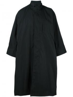 Пальто в стиле-кейп Issey Miyake. Цвет: чёрный