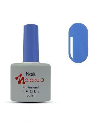 Профессиональный гель-лак. Gel Polish. Тон 52 Nails Molekula. Цвет: голубой