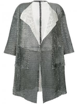 Сетчатое пальто с короткими рукавами Giorgio Brato. Цвет: чёрный