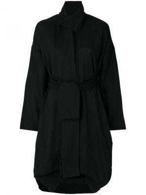 Объемная куртка с поясом Barbara I Gongini. Цвет: чёрный