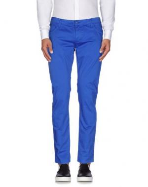 Повседневные брюки ROBERTO PEPE. Цвет: ярко-синий