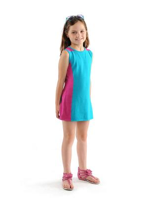 Платье Appaman. Цвет: бирюзовый, фуксия