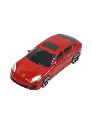 Машинка Porsche Panamera Turbo, Красная (1:64) (PS-344018S-R) Pit Stop. Цвет: красный