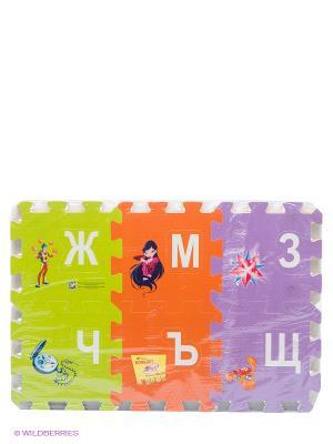 Коврик-пазл Winx Играем вместе. Цвет: фуксия, желтый, голубой