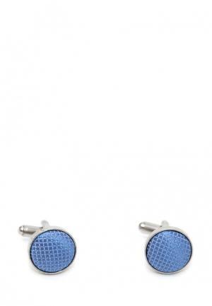 Запонки Churchill accessories. Цвет: голубой