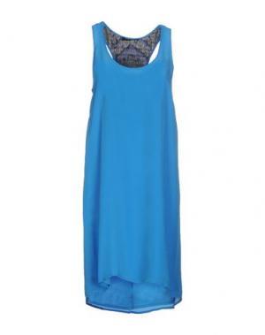 Короткое платье JO NO FUI. Цвет: лазурный