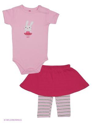 Комплект Hudson Baby. Цвет: малиновый, розовый