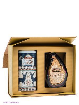 Набор Чайный подарок золотой (Остров Спешл + Фолк Индиго) Basilur. Цвет: коричневый