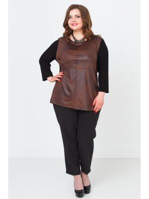 Блузка Lina. Цвет: коричневый