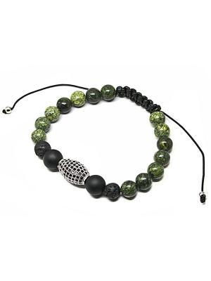 Мужская шамбала KARMONIA. Цвет: черный,зеленый,серебристый