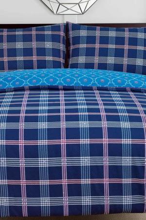 Постельное белье Дуэт, 70x70 СIOCCOLATO. Цвет: синий