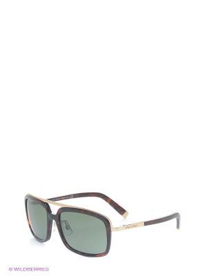 Очки солнцезащитные DQ 0026 54N Dsquared. Цвет: коричневый