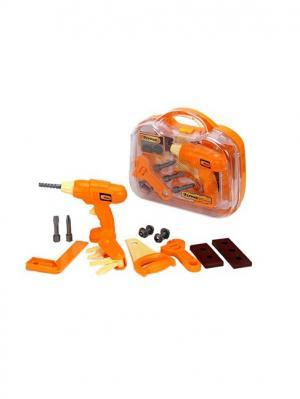 Набор инструментов детский 13пр, 28х26х9см, пластик ABC, 3+ Ермак. Цвет: оранжевый