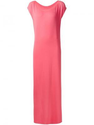 Длинное платье с разрезами по бокам Liwan. Цвет: розовый и фиолетовый