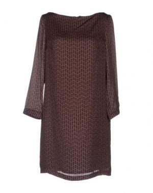 Платье до колена TROU AUX BICHES. Цвет: темно-коричневый