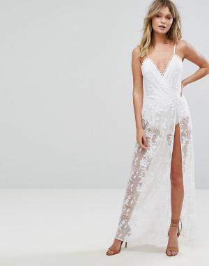 Parisian Кружевное платье макси. Цвет: белый