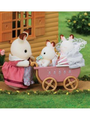Набор Двойняшки в коляске Sylvanian Families. Цвет: белый, розовый