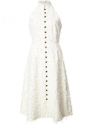 Платье-рубашка без рукавов Novis. Цвет: белый
