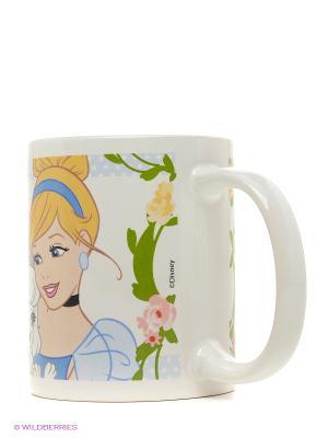 Кружка керамическая в подарочной упаковке. Принцессы и их питомцы Stor. Цвет: белый, зеленый, желтый