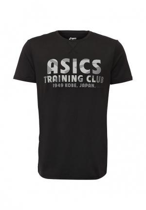 Футболка ASICS. Цвет: черный