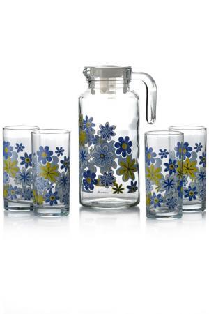 Кувшин и 4 стакана Pasabahce. Цвет: мультицвет