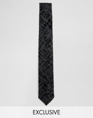 Noak Узкий галстук в крапинку. Цвет: серый