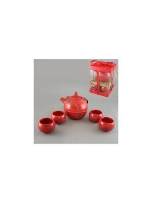 Набор чайный 5 пр. КРАСНЫЙ SAGURO. Цвет: красный, оранжевый