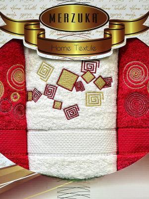 Полотенце Oran Merzuka, 3 шт. OZDILEK. Цвет: красный, белый