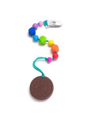 Печенька шоколадная на клипсе-держателе iSюминка. Цвет: зеленый, коричневый, красный