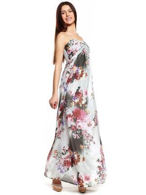 Платье TOPSANDTOPS. Цвет: светло-серый, бледно-розовый, коричневый