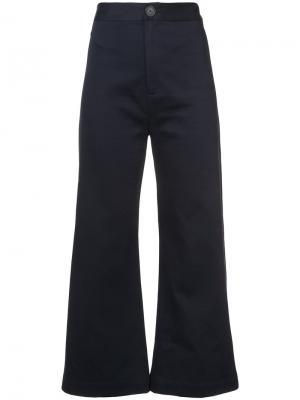 High waisted Sailor trousers Sea. Цвет: синий
