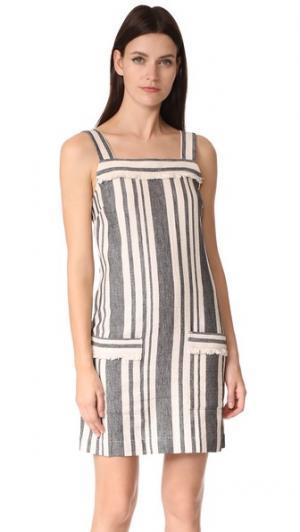 Платье в полоску Cici Bardot Whistles. Цвет: кремовый мульти