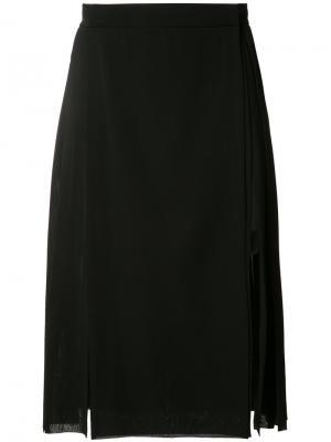 Тканая юбка-килт Gareth Pugh. Цвет: чёрный