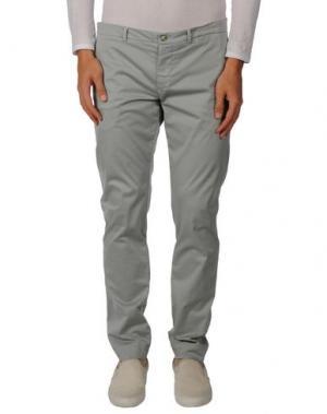Повседневные брюки YOON. Цвет: светло-серый