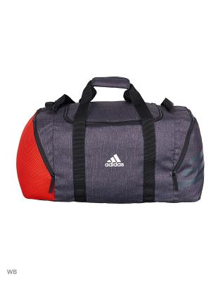 Спортивная сумка взр. ACE TB 17.2 DGREYH/RED/WHITE Adidas. Цвет: серый