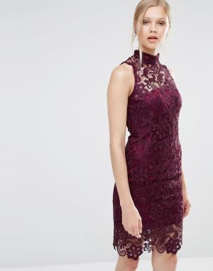 Forever Unique Кружевное платье Gillian. Цвет: фиолетовый
