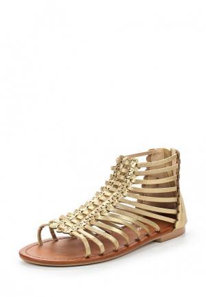 Сандалии Style Shoes. Цвет: золотой
